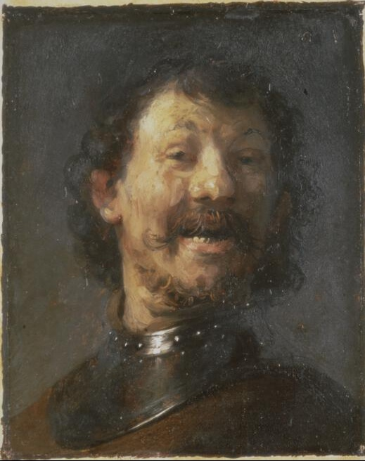 Painting of a Laughing Man by Rembrandt